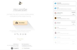 Landing page di Muzzle