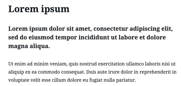 Lorem ipsum esempio