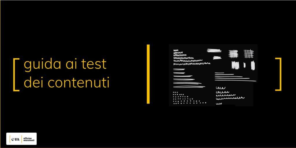 Test dei contenuti per l'UX Writing